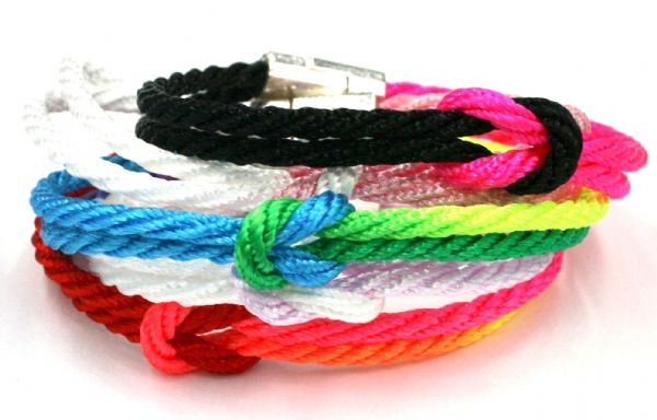 10  x Unity bracelet with magnetic clasp - 3mm cord £0.99 each